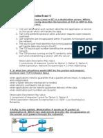 CCENT Practice Certification Exam #2 (réponses et images)