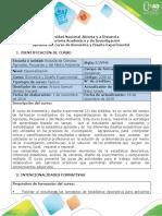 Syllabus del curso Biometría y Diseño Experimental