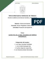 Aspectos de la Real Hacienda de la Nueva España