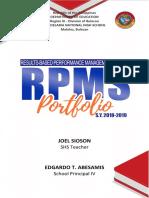 RPMS Portfolio Design