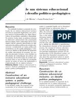 (OLIVEIRA & LEITE, 2007) Construção de um sistema educacional inclusivo