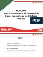 Modulo II _Tema 2 -  Saneamiento Tecnico Legal