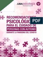 LaFacultad dePsicologíade la UBAelaboró una Guía de Recomendaciones