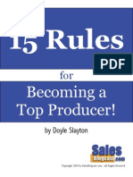 15 Rules for Becoming a Top Producer1