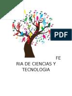 FERIA DE CIENCIAS Y TECNOLOGIA.. (Autoguardado)