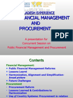 Bangladesh's Experience - Public Financial Management and Procurement