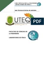 INDICACIONES GENERALES DE LABORATORIO DE FISICA