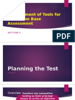 Development of Tools for Classroom Base Assessment