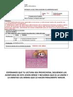 GUÍA LECTURA PERCY JACKSON Y EL LADRÓN DEL RAYO