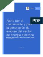 Pacto por el crecimiento y la generación de empleo del sector de energía eléctrica.