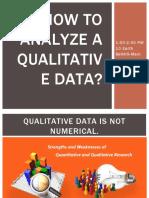 How to analyze a qualitative data