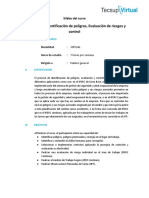 Matriz IPERC Identificación de peligros, Evaluación de riesgos y control_silabo