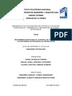 Instrumentación Para El Control de Pozos en Plataformas Petroleras de Producción