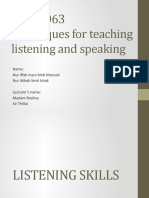 Techniques for teaching listening and speaking