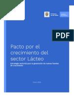 Pacto por el crecimiento del sector Lácteo