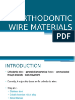 ORTHODONTIC WIRE MATERIALS