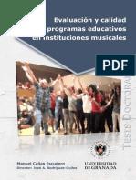 Evaluación de calidad de progamas educativos en instituciones musicales