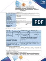 Guía de actividades y rúbrica de evaluación-Tarea 3 - Presentar informe con la solución de los problemas costeo de productos