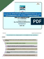 5 FICHA DE ANÁLISIS DE LA GRADUALIDAD DEL ESTÁNDAR DE CADA COMPETENCIA DEL ÁREA DE COMUNICACIÓN