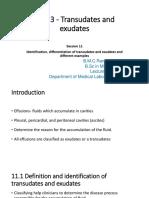 Unit 3 - Transudates and exudates III