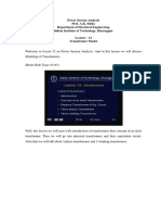 Modeling of Transformer phase shift lec12