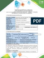 Guía de actividades y rúbrica de evaluación - Etapa 3 - Creacion de hipótesis y métodos para su validacion