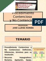 TEMA 11 Procedimiento contencioso y no contencioso
