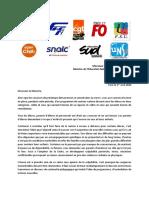 Courrier au ministre de la FCPE et huit organisations syndicales 01-04-20