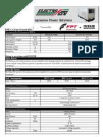 160 kVA Specification Sheet