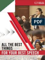 MUN 101 Webinar Syllabus - All The Best Things for Your Best Speech