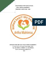 PROGRAM KERJA RAWAT INAP 2019-2020