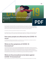 How To Stay Safe From COVID-19