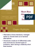 Short Run Decisions