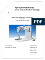 SEWN PRODUCTS MACHINERY AND EQUIPMENT model doc