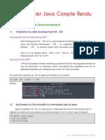 Java TP 1 Compte Rendu (v 1)