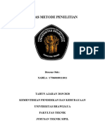 Tugas - Metode Penelitian - Nabila - 175060100111011