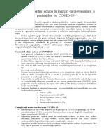Ghid Clinic Pentru Echipa Îngrijiri Cardiovasculare Pacienților COVID(1)