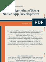 Benefits of React Native App Development - NetsetSoftware