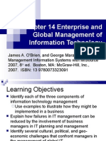 Enterprise and Global Management of Information Technology