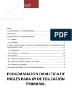 Programacion Ingles 6º LOMCE cole bilingue concertado