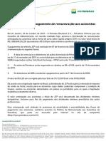 Petrobras anuncia pagamento de remuneração aos acionista