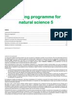 Programacion Science 5º LOMCE Cole Bilingue Concertado