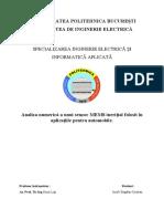 Analiza numerică a unui senzor MEMS inerițial folosit în aplicațiile pentru automobile