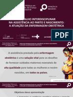 TRABALHO INTERDISCIPLINAR NA ASSISTÊNCIA AO PARTO E NASCIMENTO_A ATUAÇÃO DA ENFERMAGEM OBSTÉTRICA