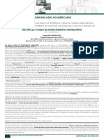 HSML11 - HSI MALLS FUNDO DE INVESTIMENTO IMOBILIÁRIO