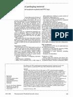PVC as pharmaceutical packaging material