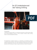 Underbalanced Drilling Benefits