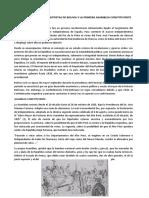 MOVIMIENTOS   INDEPENDENTISTAS DE BOLIVIA Y LA PRIMERA ASAMBLEA CONSTITUYENTE