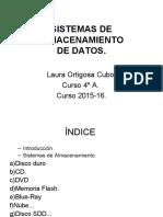 SISTEMAS DE ALMACENAMIENTO presentacion
