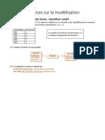 Modélisation - Exercices Particularités